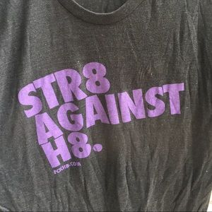 """American Apparel """"The Track Shirt"""" STR8 Against H8"""